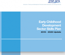 ETDP SETA: Early Childhood Development Sector Skills Plan 2019-2020 Update