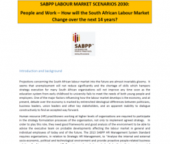 SA Board for People Practice (SABPP): Labour Market Scenarios 2030