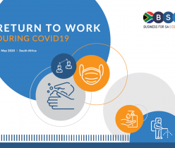 Business for SA: Return to Work During COVID-19 14 May 2020