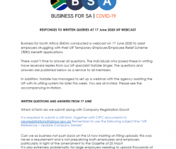 Business for SA: Q&A UIF Webcast 17 June 2020