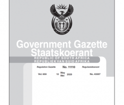 Government Gazette 12 May 2020 No.11110 DTIC