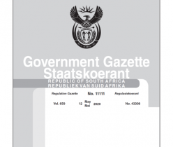 Government Gazette 12 May 2020 No.11111 DTIC