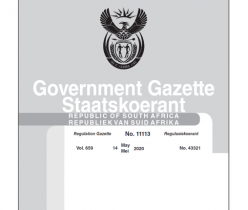 Government Gazette 14 May 2020 No.11113 DTIC