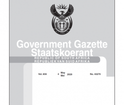Government Gazette 04 May 2020, No.43270 Department of Transport