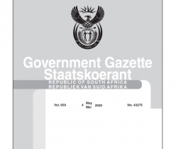 Government Gazette 04 May 2020, No.43275 Department of Transport