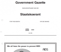 Index of the Government Gazette - April 2020