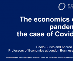 London Business School: The Economics of a Pandemic: The Case of COVID-19