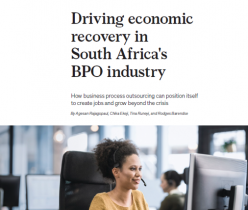 McKinsey Report: Driving Economic Recovery in South Africa's BPO Industry
