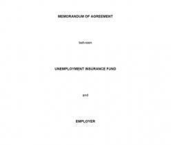 Memorandum of Agreement: UIF & Employer