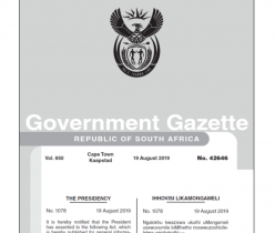 Act No.12 of 2019: National Qualifications Framework Amendment Act (August 2019)