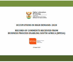 Department of Higher Education and Training: Occupations in High Demand 2020