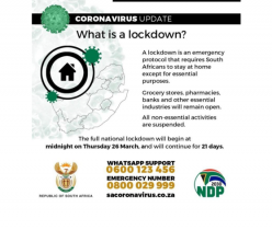 South African Presidency: What is a Lockdown?