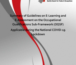 QCTO: Summary of Guidelines on E-Learning and E-Assessment on the OQSF