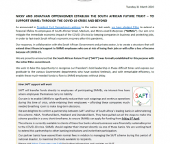 Oppenheimer South African Future Trust: Media Statement 31 March 2020