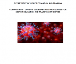 DEPARTMENT OF HIGHER EDUCATION & TRAINING: CORONAVIRUS – COVID-19 GUIDELINES AND PROCEDURES FOR SECTOR EDUCATION AND TRAINING AUTHORITIES