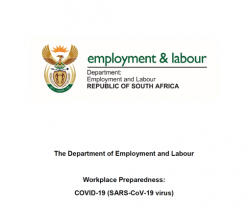 Department of Employment and Labour: Workplace Preparedness: COVID-19