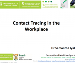 Department of Health: Contact Tracing in the Workplace