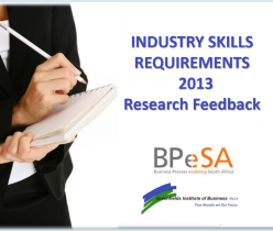 Industry Skills Requirements 2013 Research Feedback