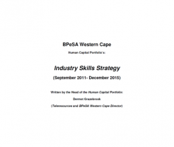 Industry Skills Strategy 2015