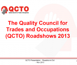 QCTO Roadshow 2013